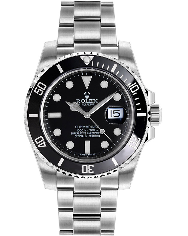 Rolex Oyster Perpetual Ceramic Submariner Date Black Face ...