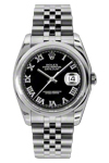 Rolex Datejust 116200 with Black Roman Dial and Jubilee Band