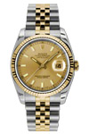 Rolex Datejust Watch Champagne Dial 116233