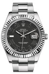 Rolex New Style Datejust II Black Roman Dial 41mm Scratch Resistant
