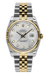 Rolex Oyster Perpetual Datejust with Silver Diamond Dial