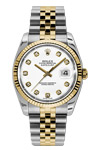 Rolex Oyster Perpetual Datejust with White Diamond Dial
