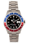 Rolex GMT Master-II Red Blue Time Zone Insert Oyster Band 2005 Model
