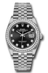Rolex Datejust 36 mm Black Diamond Dial and Bezel