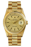 Rolex 18k Gold President with Champagne Dial