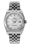 Rolex Men's Datejust Watch With Silver Dial Small Black Roman Numerals