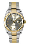 Men's Rolex Datejust Rhodium Dial 18 K Yellow Gold & Steel