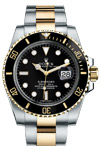 Rolex Submariner 116613 Black Dial Date 18K Gold & Steel