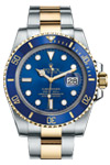 Rolex Submariner Blue Dial Date 116613 18K Gold & Steel