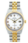 Rolex Oyster Perpetual Datejust 16233 Porcelain Dial Roman Numerals