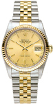 Rolex Mens Watch Datejust 18k Gold Steel 16013
