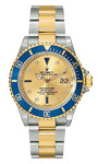 Pre-Owned Rolex Submariner Serti Dial Blue Bezel