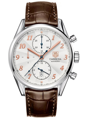 Tag Heuer Carrera Heritage Chronograph Off-White Dial Rose Gold Numerals
