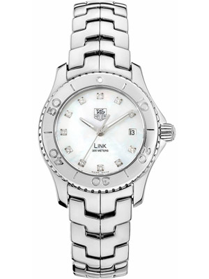 Tag Heuer Link WJ 1319 Quartz Mother of Pearl & Diamonds Dial